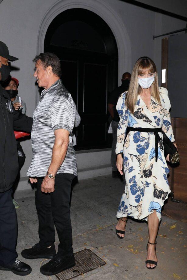Jennifer Flavin - Seen after dinner in West Hollywood