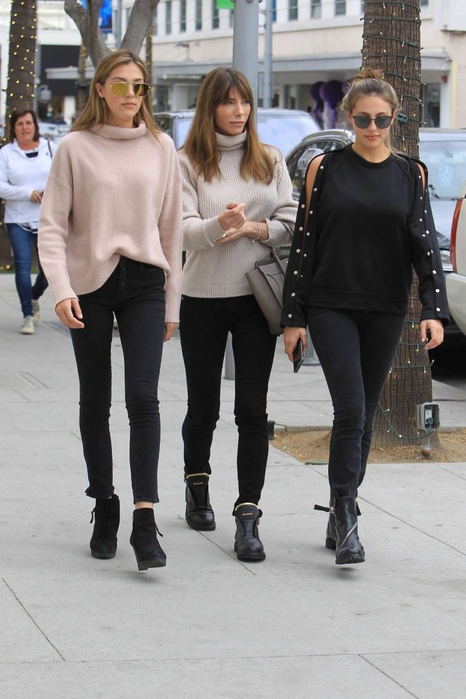 Jennifer Flavin wit Sophia and Sistine Stallone - Shopping in Beverly Hills