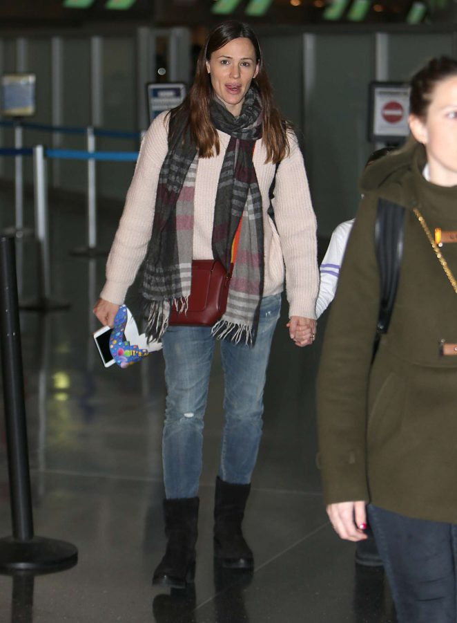 Jennifer Garner at the JFK airport in New York
