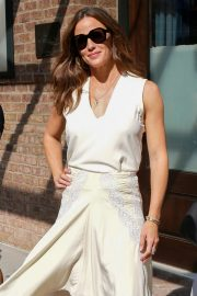 Jennifer Garner - In a white dress out from The Greenwich Hotel in New York City