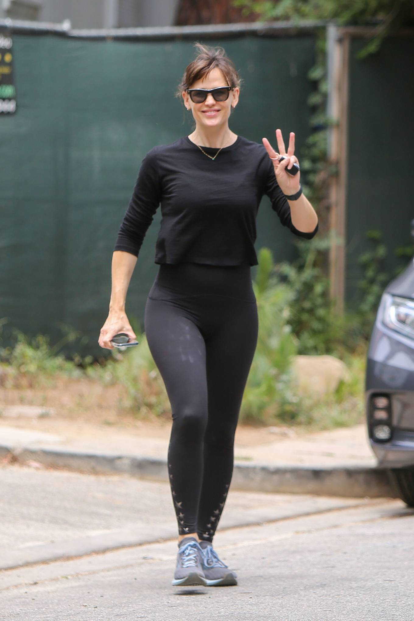 Jennifer Garner 2021 : Jennifer Garner – In black leggings in Brentwood-07