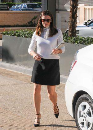 Jennifer Garner in Black Skirt at Barneys in Los Angeles