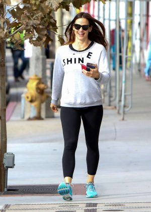 Jennifer Garner in Black Tights Out in Los Angeles