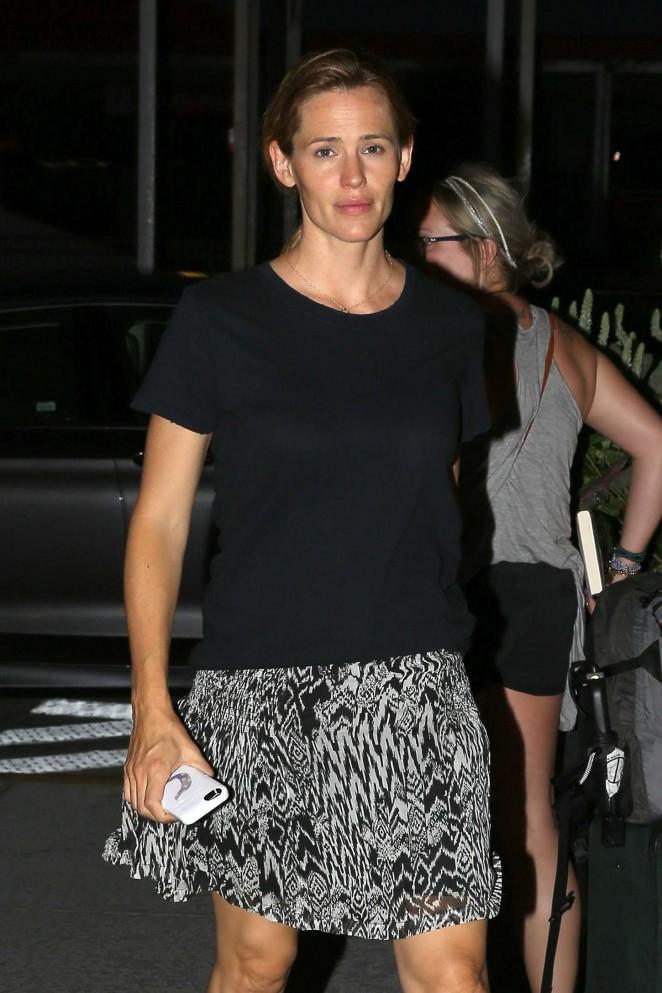 Jennifer Garner in Mini Skirt out in Atlanta