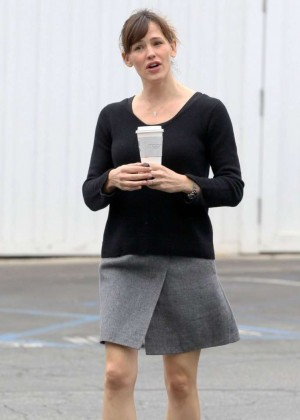 Jennifer Garner in Mini Skirt out in Brentwood