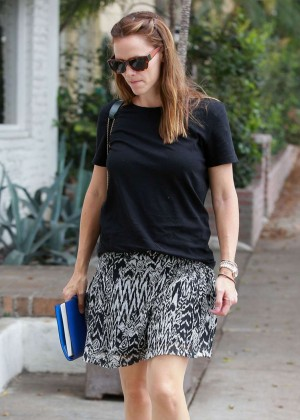 Jennifer Garner in Mini Skirt Out in LA