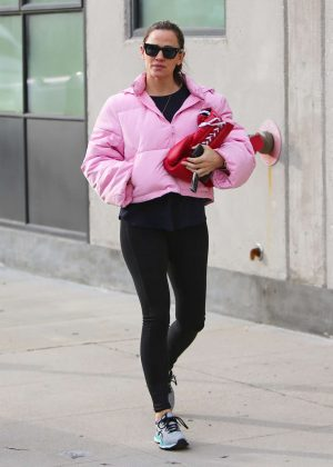 Jennifer Garner in Pink Jacket - Out and about in Los Angeles