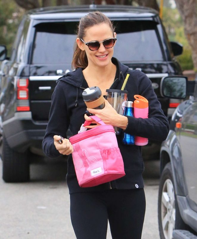 Jennifer Garner - Leaving the gym in Brentwood