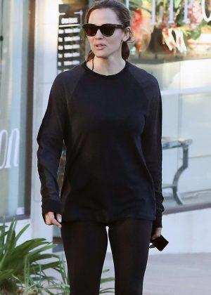 Jennifer Garner - Leaving the gym in Brentwood