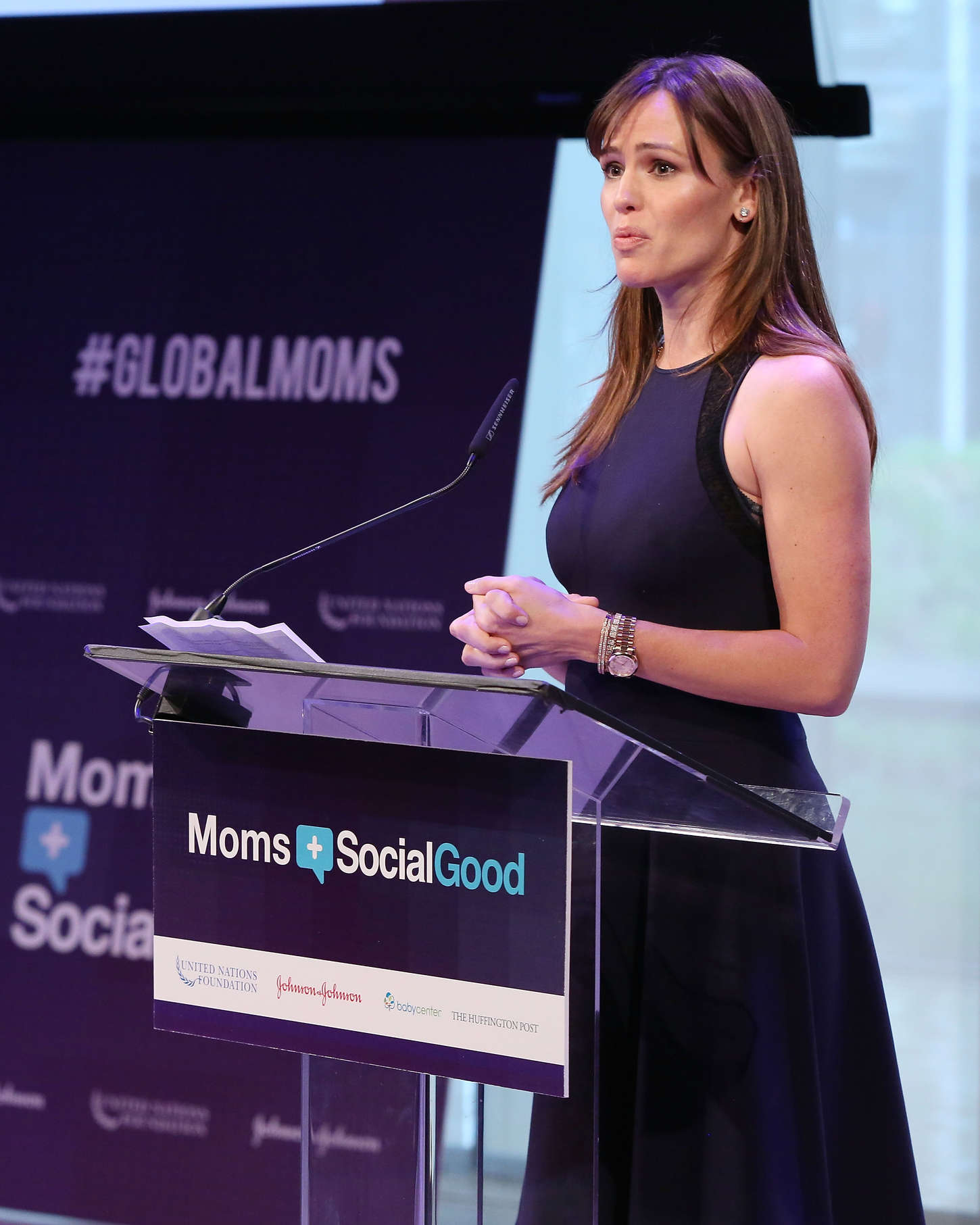 Jennifer Garner - Moms+Social Good Global Moms' Challenge in NYC