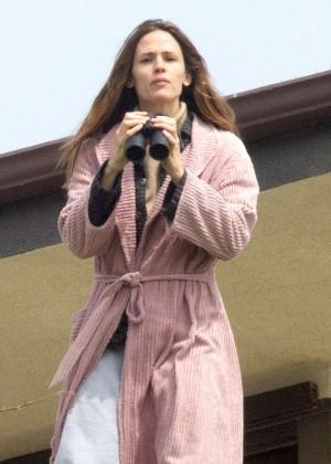 Jennifer Garner on the Set of 'The Tribes of Palos Verdes' in LA