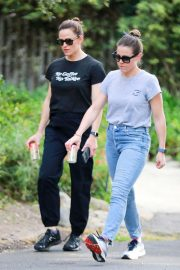 Jennifer Garner out for a walk with a friend in LA