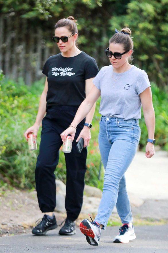 Jennifer Garner out for a walk with a friend in LA