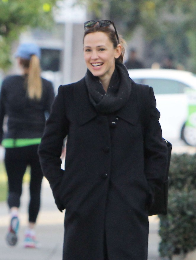 Jennifer Garner with a friend out in Brentwood