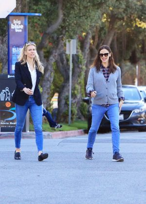 Jennifer Garner with a friend out in LA