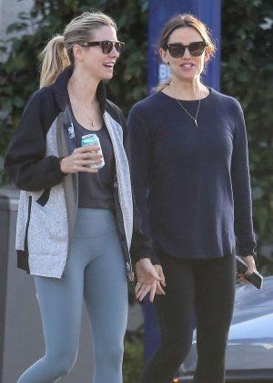 Jennifer Garner with a friend out in Santa Monica