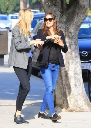 Jennifer Garner with friend out in Brentwood