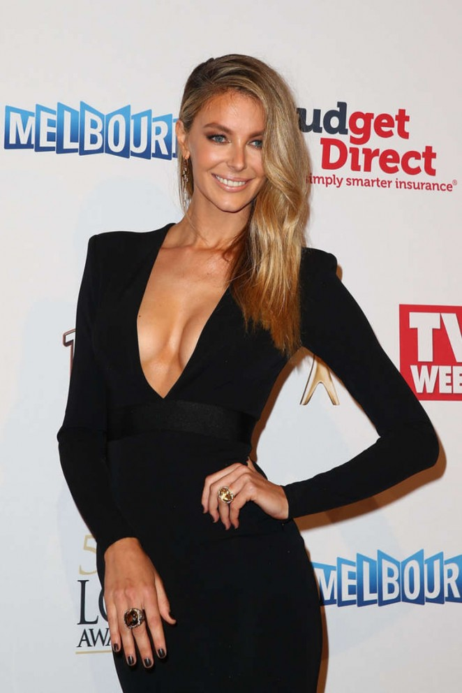 Jennifer Hawkins - 2015 Logie Awards in Melbourne
