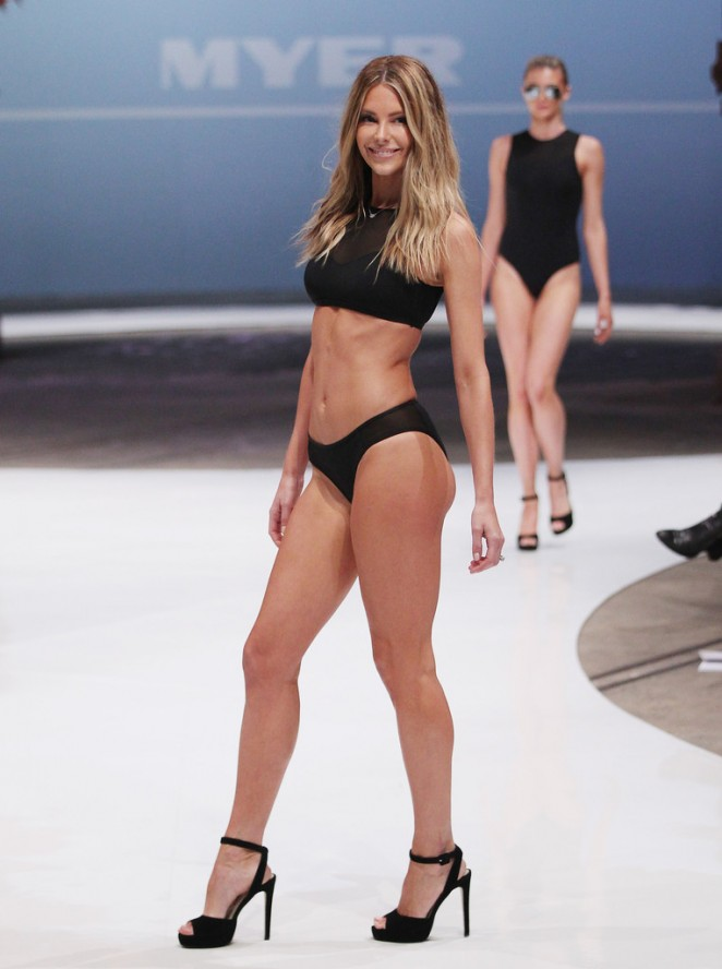 Jennifer Hawkins - Myer Catwalk Fashion Launch in Sydney