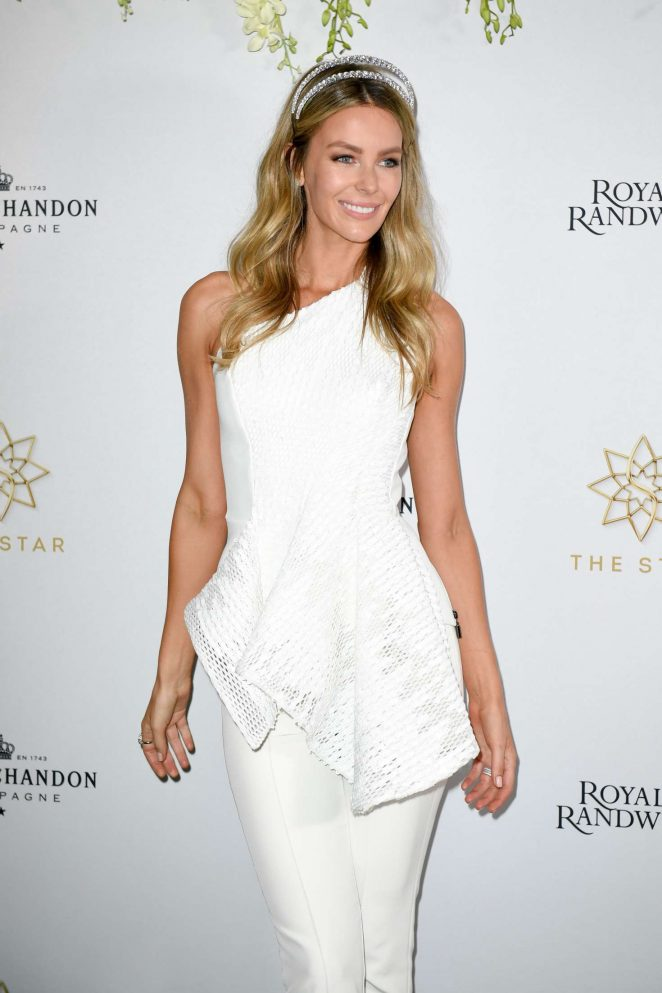 Jennifer Hawkins – The Star Doncaster Mile Luncheon in Sydney
