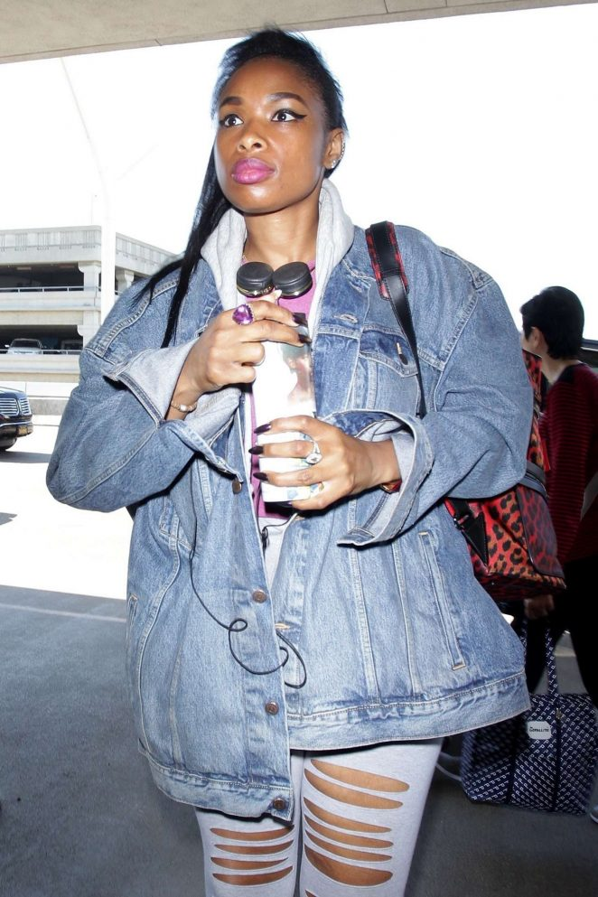 Jennifer Hudson at LAX Airport in Los Angeles