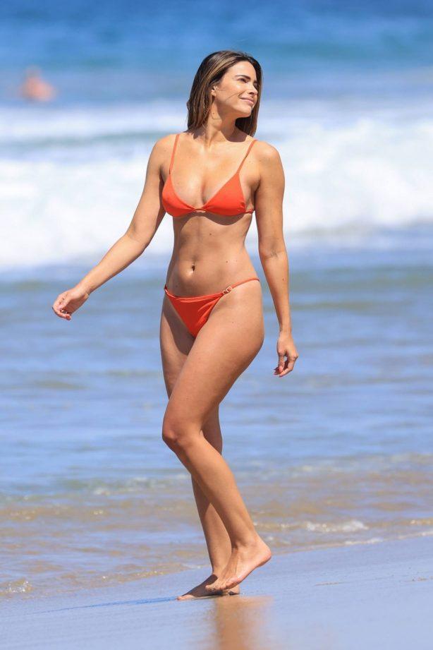 Jennifer Lahmers - In a bikini on the beach in Los Angeles
