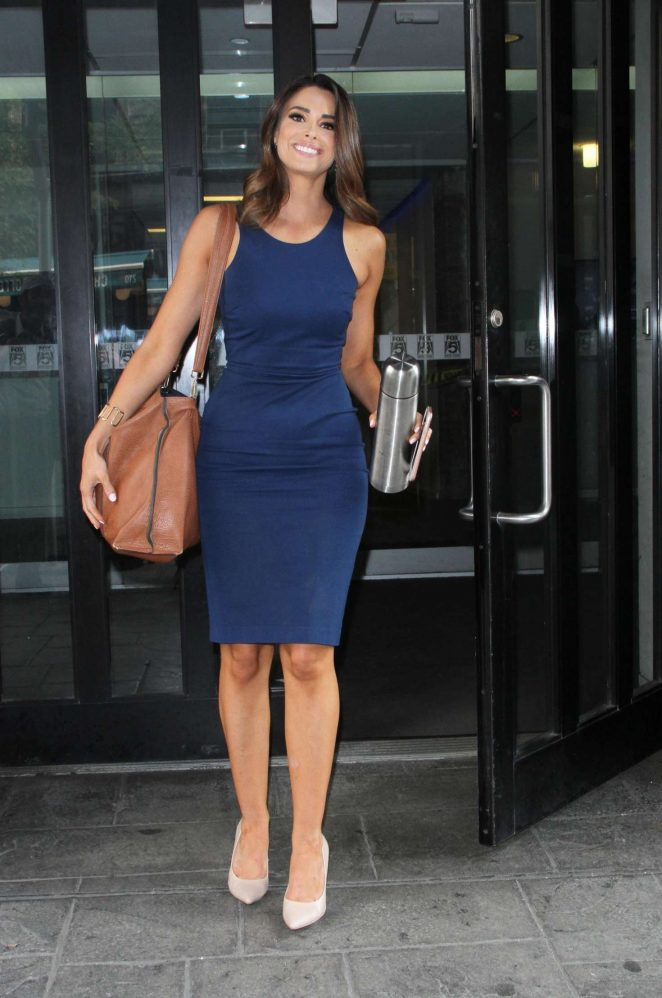 Jennifer Lahmers in Blue Dress - Out in New York City