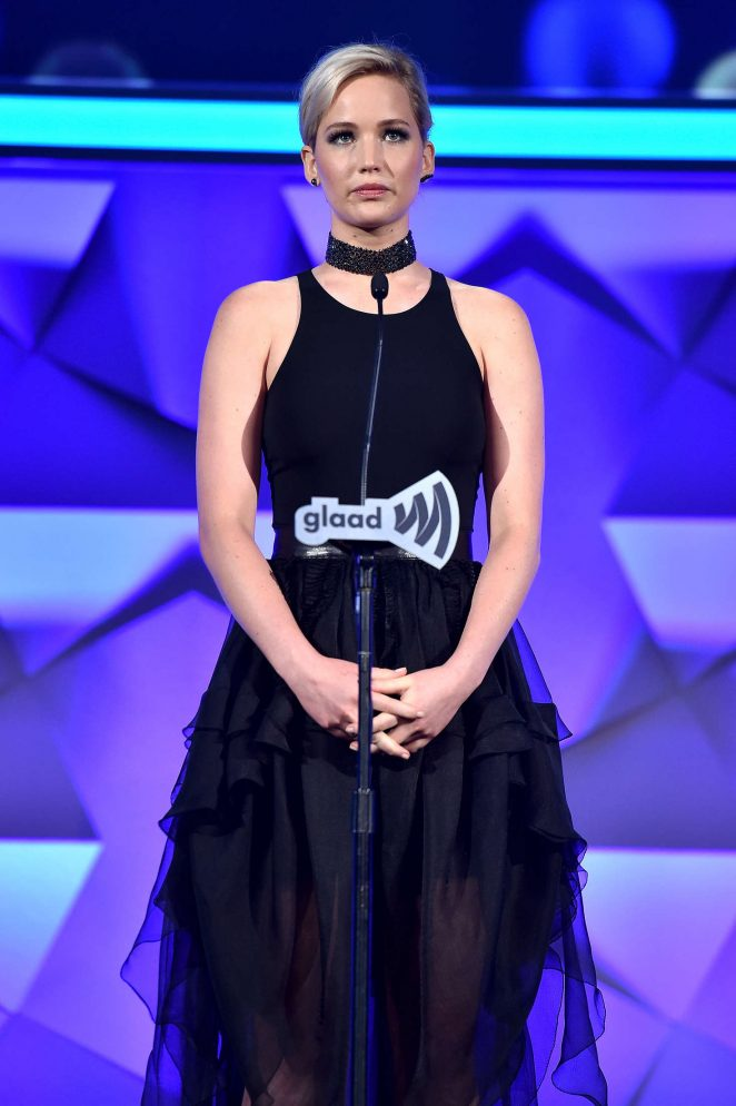 Jennifer Lawrence - 2016 GLAAD Media Awards in NYC