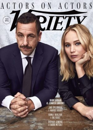 Jennifer Lawrence and Adam Sandler - Variety Magazine Cover (November 2017)