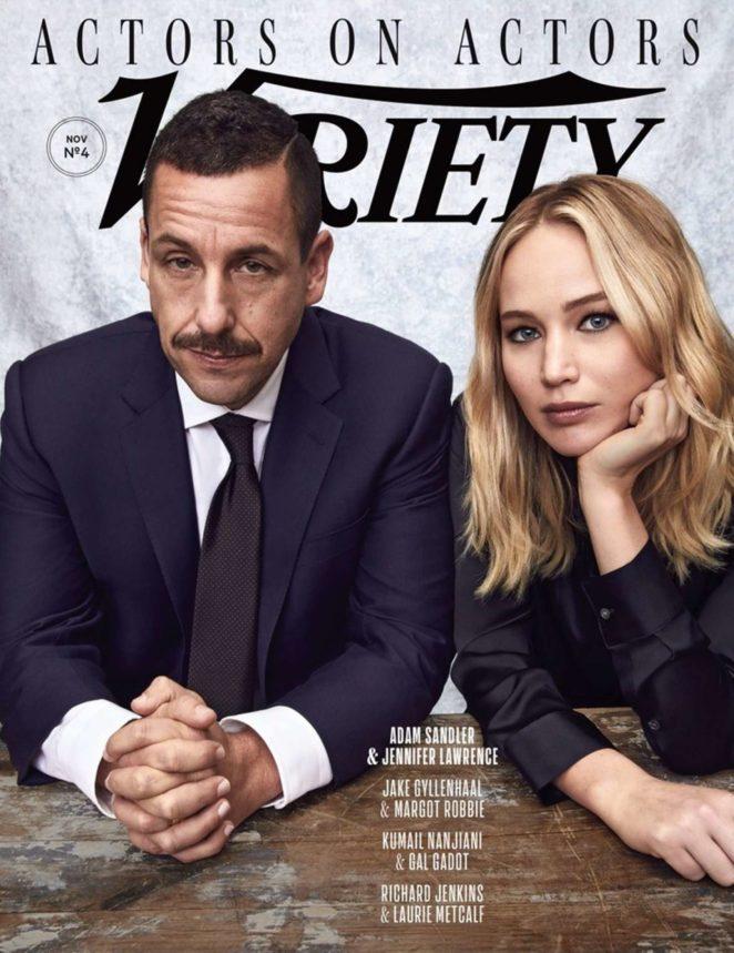 Jennifer Lawrence and Adam Sandler – Variety Magazine Cover (November 2017)