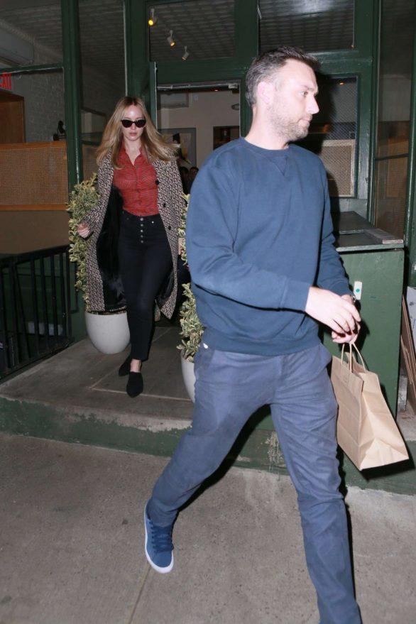 Jennifer Lawrence and Cooke Maroney - Leaving King Italian restaurant in New York City