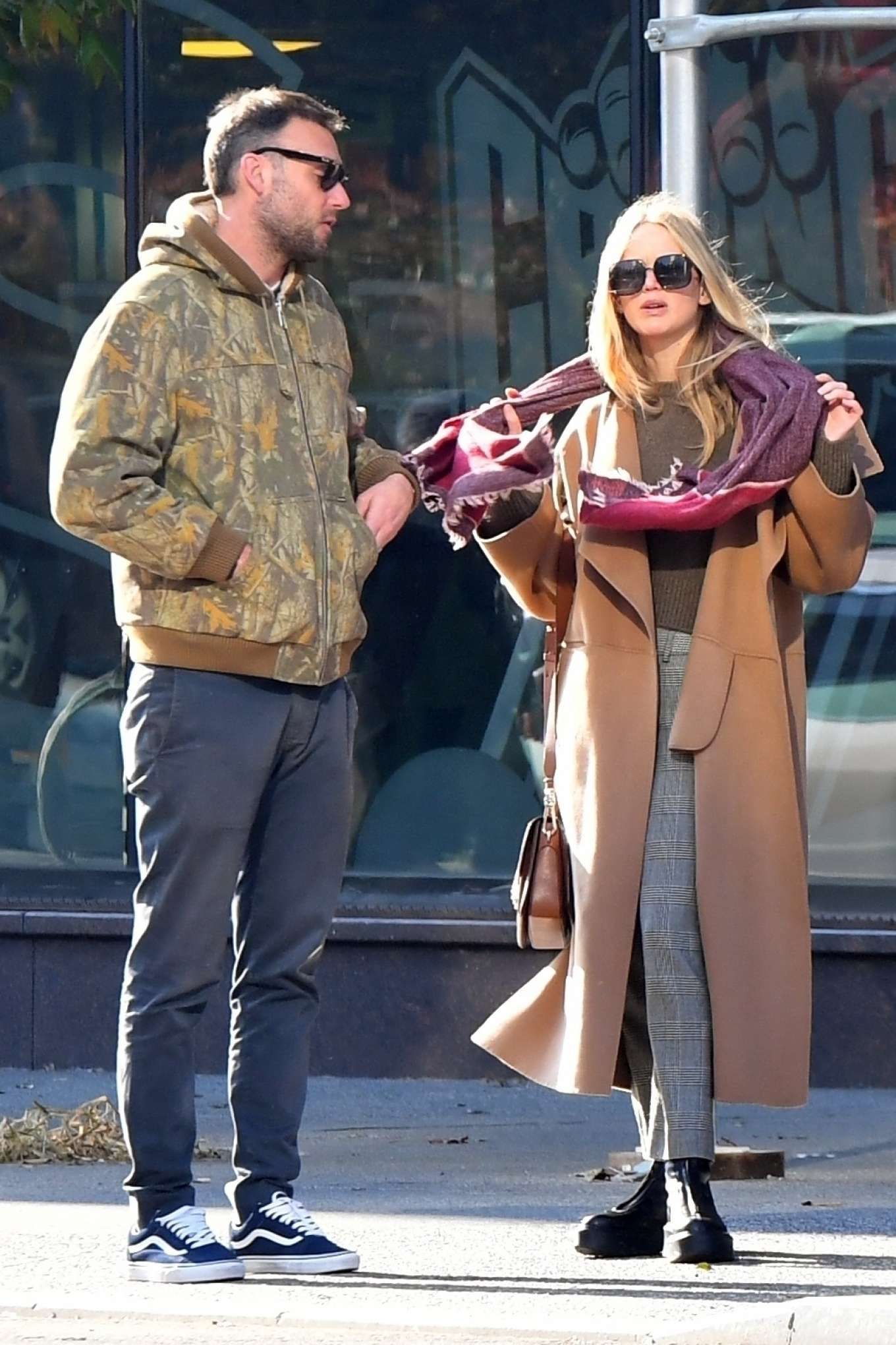Jennifer Lawrence 2019 : Jennifer Lawrence and Cooke Maroney – Out and about in New York City-02