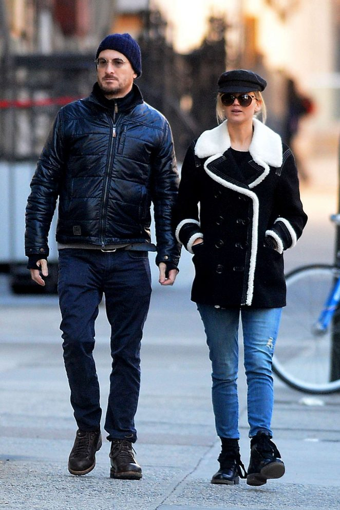 Jennifer Lawrence and Darren Aronofsky out in New York City