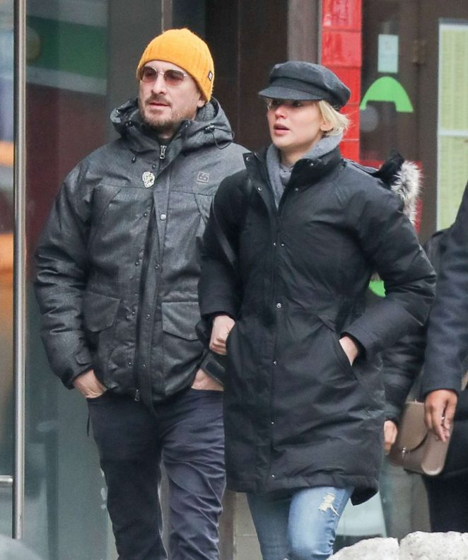 Jennifer Lawrence and Darren Aronofsky out in New York