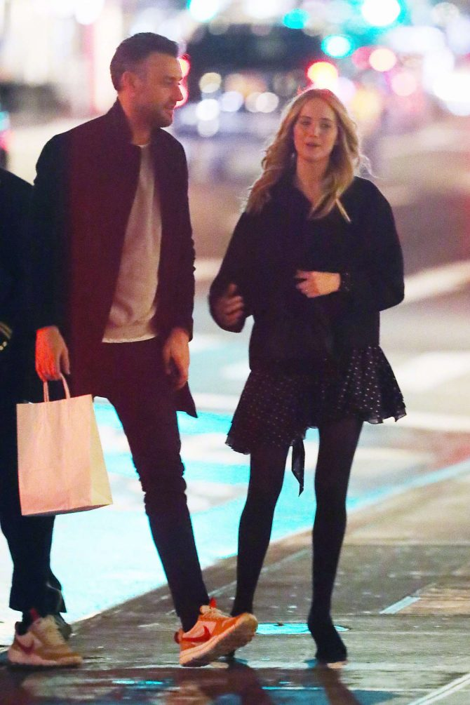 Jennifer Lawrence and her boyfriend Cooke Maroney – Out in New York