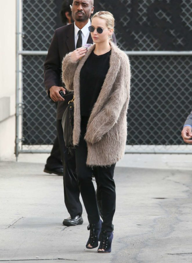 Jennifer Lawrence - Arrives at 'Jimmy Kimmel Live' in Hollywood