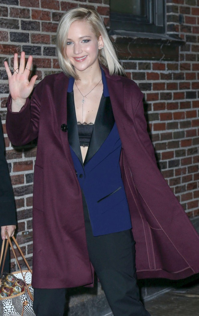 Jennifer Lawrence - Arrives at 'The Late Show with Stephen Colbert' in NYC