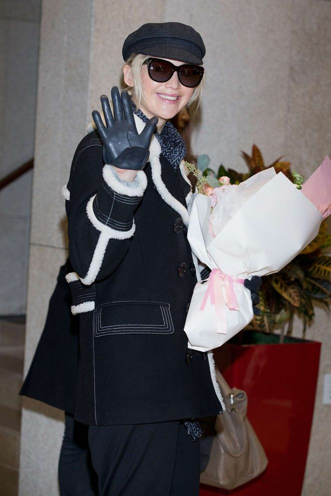 Jennifer Lawrence - Arrives in Seoul