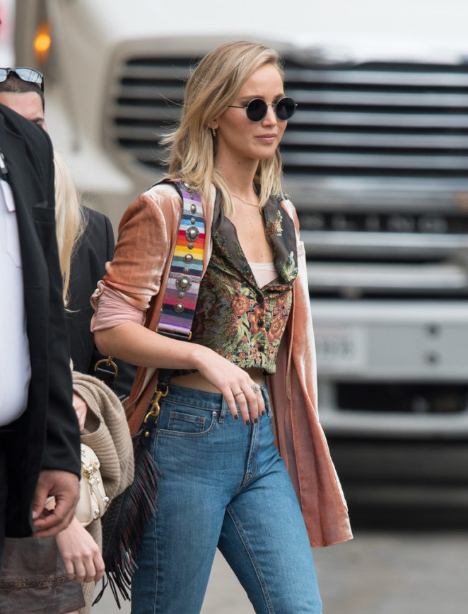 Jennifer Lawrence - Arriving at Jimmy Kimmel Live! in LA