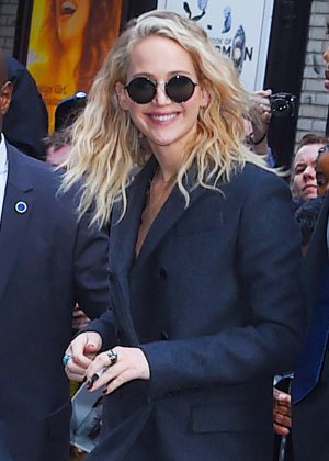 Jennifer Lawrence - Arriving at 'The Late Show with Stephen Colbert' in NY