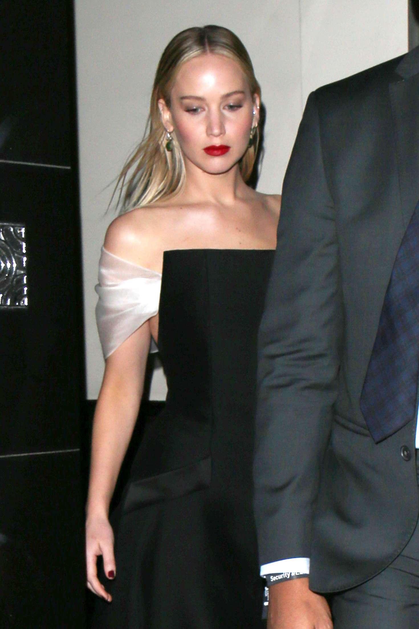 Jennifer Lawrence at Claridge's Hotel in London