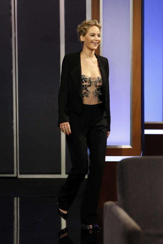 Jennifer Lawrence at Jimmy Kimmel Live! in Los Angeles