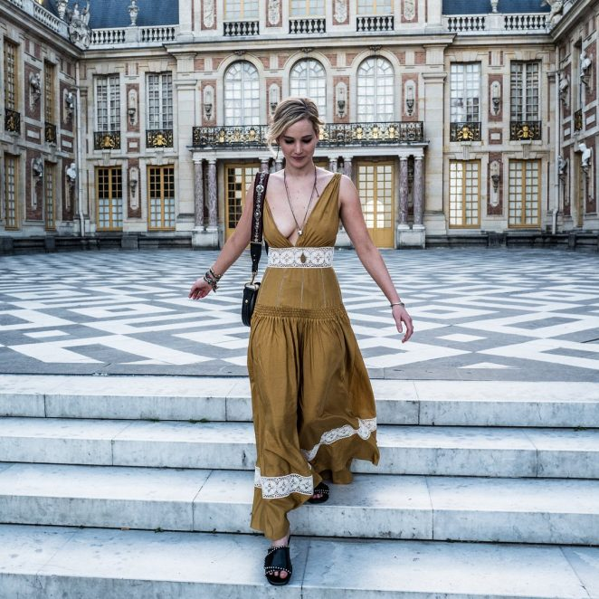 Jennifer Lawrence at the Chateau de Versailles in Versailles