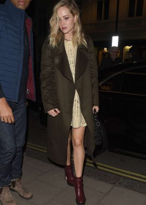 Jennifer Lawrence at the Chiltern Firehouse in London