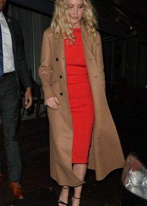 Jennifer Lawrence at Trishna Indian Restaurant in London