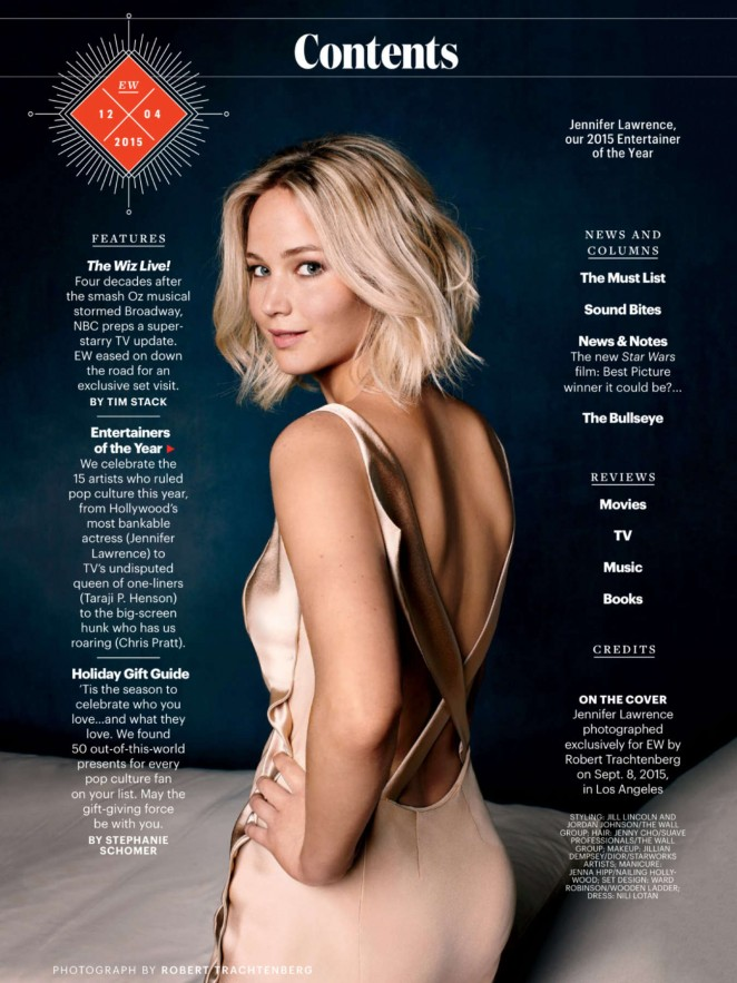 Jennifer Lawrence – Entertainment Weekly Magazine (December 2015)