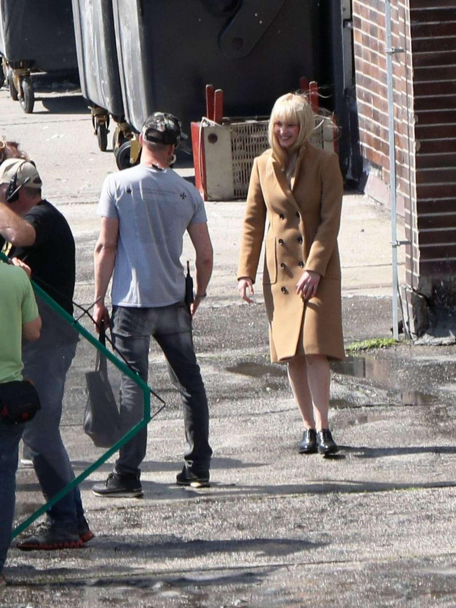 Jennifer Lawrence Filming Red Sparrow In Bratislava