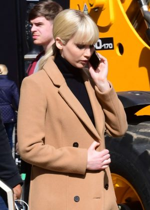 Jennifer Lawrence Filming 'Red Sparrow' in London
