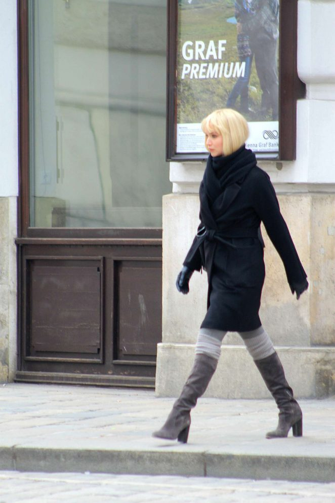 Jennifer Lawrence Filming 'Red Sparrow' in Vienna