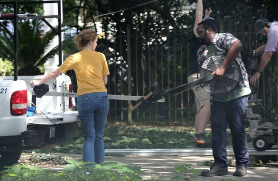 Jennifer Lawrence 2019 : Jennifer Lawrence – Filming scenes for The Untitled Soldier Project-05